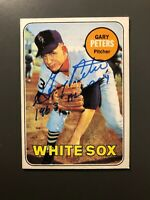1969 Topps # 34 Gary Peters Autographed Card Chicago White Sox ROY Inscription*