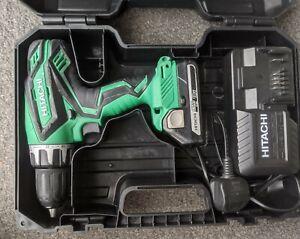 Hitachi 18v Cordless Impact Combi Drill Driver 2.5 Li-ion Battery + Charger Case