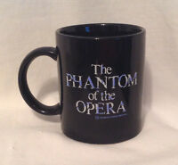 THE PHANTOM OF THE OPERA BY THE REALLY USEFUL GROUP COFFEE MUG / CUP BLACK EC
