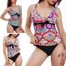 Bikini tankini donna costume bagno mare due pezzi multicolor culotte DY7590
