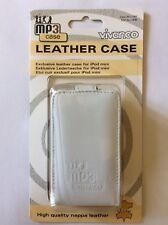 Weisses Etui Ledertasche für iPod mini Mp3 Edel