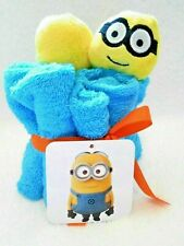 Minion Dispicable me Washcloths Kids 4 Piece Bundle Cotton With 3D Heads New
