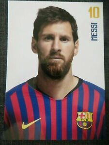Offizielle AK Autogrammkarte *LIONEL MESSI* FC Barcelona FCB 18/19 2018/2019 RAR