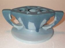 HTF GoRgEoUs EARLY Roseville Pottery CARNELIAN I Blue FLOWER FROG 9 Holes EXC.