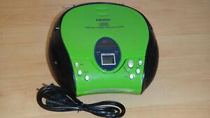 Lenco SCD-24 Stereo UKW-Radio mit CD-Player  grün/schwarz **TOP**