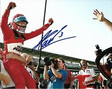 HELIO CASTRONEVES SIGNED 8X10 PHOTO INDY 500 3 TIME WINNER INDIANAPOLIS 2018