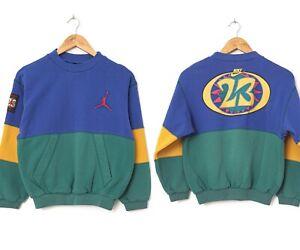 Youth Boys Kids 90s Vintage NIKE AIR JORDAN Sweatshirt Crew Neck Size 10-12