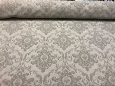 Sonia Damask Khaki Chenille Raised Upholstery Fabric by the yard