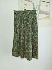 Skirt Green small floral 1970s Vintage