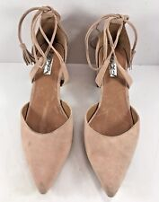 Halogen Beige Suede Strappy Pointy Toe Sandals Womens Size US 7.5M