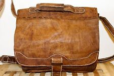 Recycled Raw natural Leather Handmade Messenger bag
