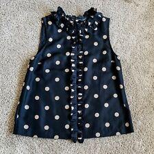 Marc Jacobs Black Silk Polka Dot Blouse Women's Size 6