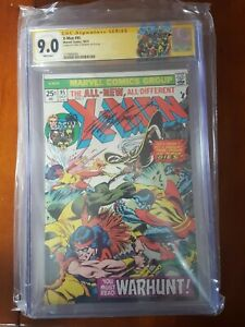 X-Men #95 CGC 9.0 LTD custom yellow SS Claremont Death Thunderbird WHITE PAGES