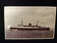 T.S.S. Caledonian Princess Steam Ferry Postcard Postmarked 1963 Real Photo