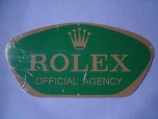 GENUINE C1980'S ROLEX OVAL ENAMEL ADVERTISING SIGN EX-BANKRUPT STOCK MINT