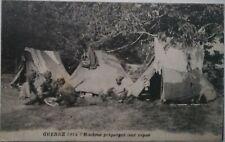 WW1 INDIAN ARMY CAMP Soldiers HINDU Tents Preparing Meal Patriotic PC 1914