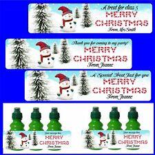 8 personalizzati per bambini frutta sparare appiccicoso ETICHETTE Pupazzo di Neve Buon Natale
