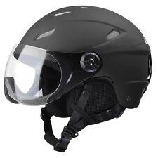 Adult Snow Sports Helmet ATSM Certified Ski Skate Board Protect Matte Black XL