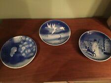 Desiree Svend Jensen Denmark Hans Christian Anderson Christmas Plates Set of 3