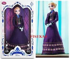 """Disney Store Frozen Elsa Limited Edition 5000 Collector 17 """" Doll Purple NEW"""