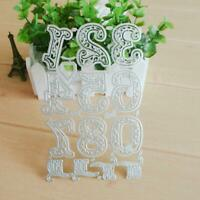 Lace Numbers Metal Cutting Dies Stencil Scrapbooking Die Embossing Card Craft