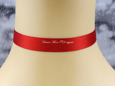 Blood Red Satin ribbon 15mm Choker/Necklace Gothic/Christmas/Hen Party/Prom UK