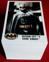 "BATMAN - COMPLETE BASE SET (132 Cards) - 3.5"" X 2.5"" - Topps (UK) - 1989"