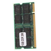 1GB Memory RAM Memory PC2100 DDR CL2.5 DIMM 266MHz 200-pin Notebook Laptop J3F1