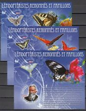 Mali, 2010 issue. Butterflies on 3 IMPERF s/sheets.