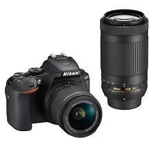 Nikon D5600 DSLR Camera AF-P 18-55 VR Double Zoom Lens Kit D5600WZBK EMS W/T