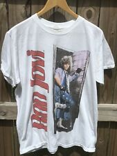 Rare Vintage 80s Bon Jovi Slippery When Wet Tour Shirt Medium