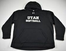 Utah Utes Under Armour Sweatshirt Men's Black Poly NEW 2XL