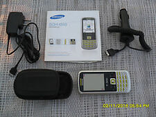 USED SAMSUNG T349 CELL PHONE WITH EXTRAS