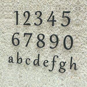 Edle Design Hausnummer - Edelstahl Klassisch 15 20 30 cm RAL 7016 anthrazit grau