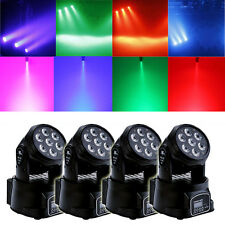4X 100W RGBW 4in1 7 LED Moving Head Light DMX DJ XMAS Disco Stage Party Lighting