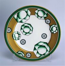 Noritake plate Green Emerald Nippon bone china Deco pattern