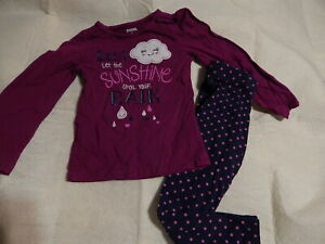 GIRLS 5 5T GYMBOREE BUNDLED AND BRIGHT TOP & LEGGINGS