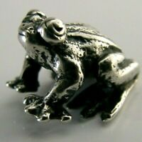 QUALITY STERLING SILVER MINIATURE FROG / TOAD FIGURE LONDON 1988