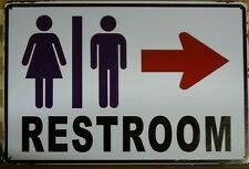 RESTROOMS Rustic Metal Sign Vintage Tin Shed Garage Bar Man Cave Wall Plaques