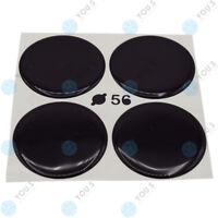 4 x YOU.S Nabenkappen Silikon Aufkleber 56,0 mm - schwarz selbstklebend