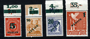 BERLIN GERMANY 1949 Complete Surcharged & Overprinted Set SG B64 to SG B67 MINT