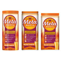 METAMUCIL NATURAL PSYLLIUM POWDER ORANGE SMOOTH CHOOSE DOSE 48 72 114 FIBRE