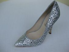 Boutique 9 Womens Shoes NEW $129 Sally Silver Glitter Pump 8 M