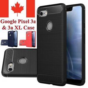 For Google Pixel 3 / XL & 3a / XL Case - Carbon Fiber Shockproof TPU Cover