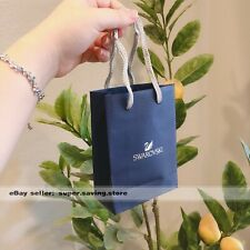 "New Swarovski Blue Paper Gift Shopping Bag Sizes Small 6""x4""x2"""