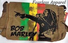 Bob Marley Zion Rootswear Singing One Love Rasta Messenger Shoulder Satchel Bag
