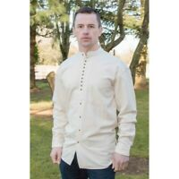 Traditional Irish Linen Civilian Grandfather Shirt High Quality ew13 stone