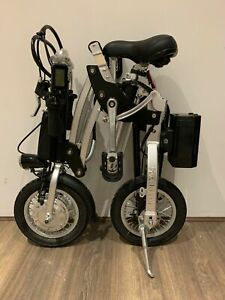 Kwikfold Pro 12 Folding Electric Bike ebike with Battery (Black/Silver)
