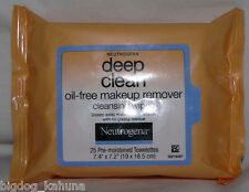 25 Neutrogena Deep Clean Make Up Remover Cleansing Wipes Pads Cloths Towelettes
