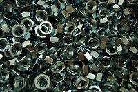 (225) Hex Jam Nut 1/2-20 Fine Thread - Zinc Plated - Thin Nuts